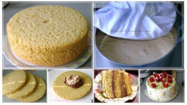 Торт без духовки с фото